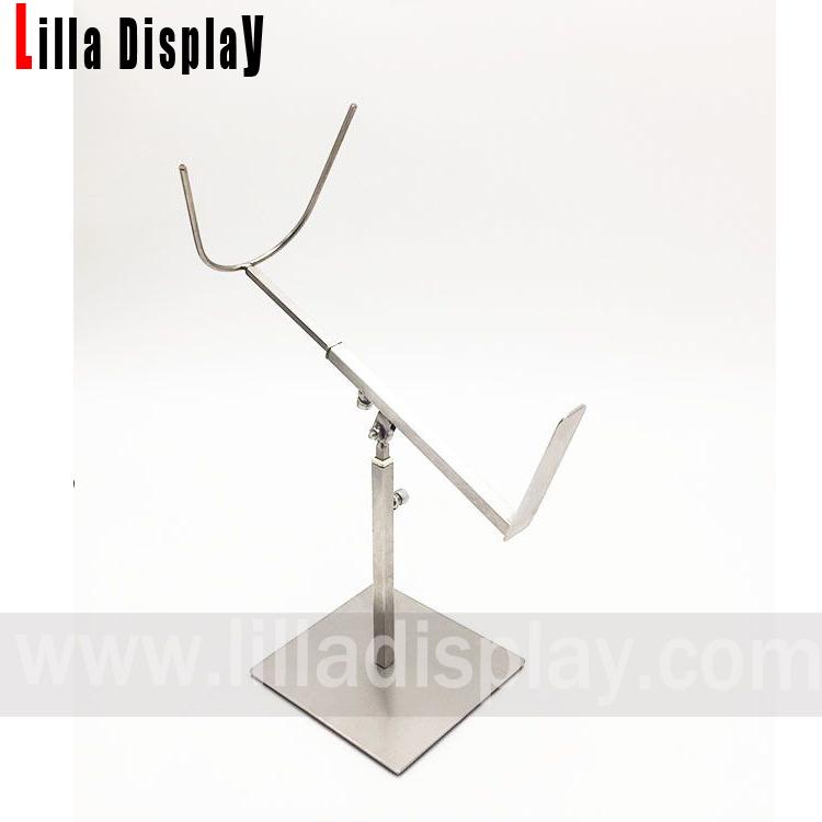 lilladisplay cizme metalice de culoare argintie stand de afișare MMB01