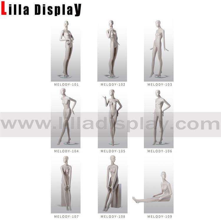lilladisplay white matt color luxury stylized female mannequins Melody