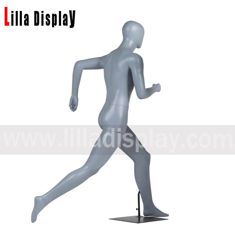 lilladisplay sports striding running with long steps male mannequin JR-80