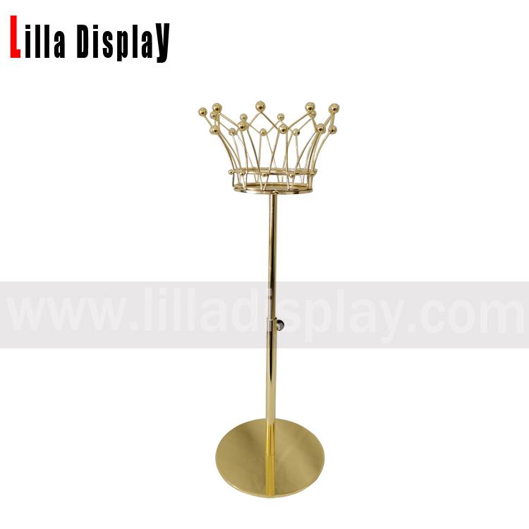 lilladisplay adjustable height gold base crown neck display stand for hats display, scarf display, jewelry display,sunglasses display