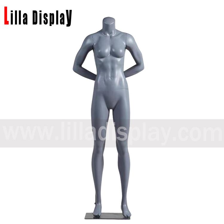 lilladisplay back arms gray color female sport mannequin JR-2H