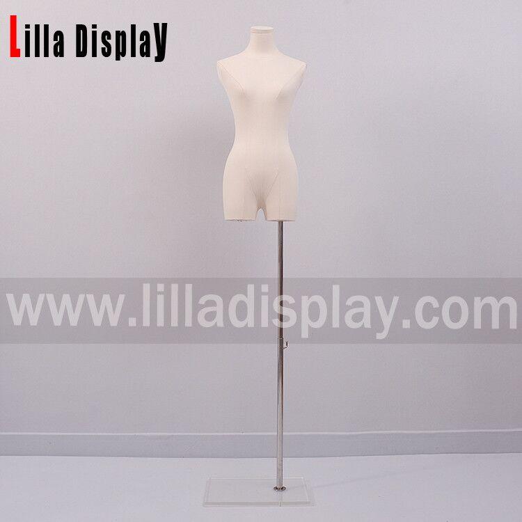 lilladisplay acrylic base natural linen female dress form HY07