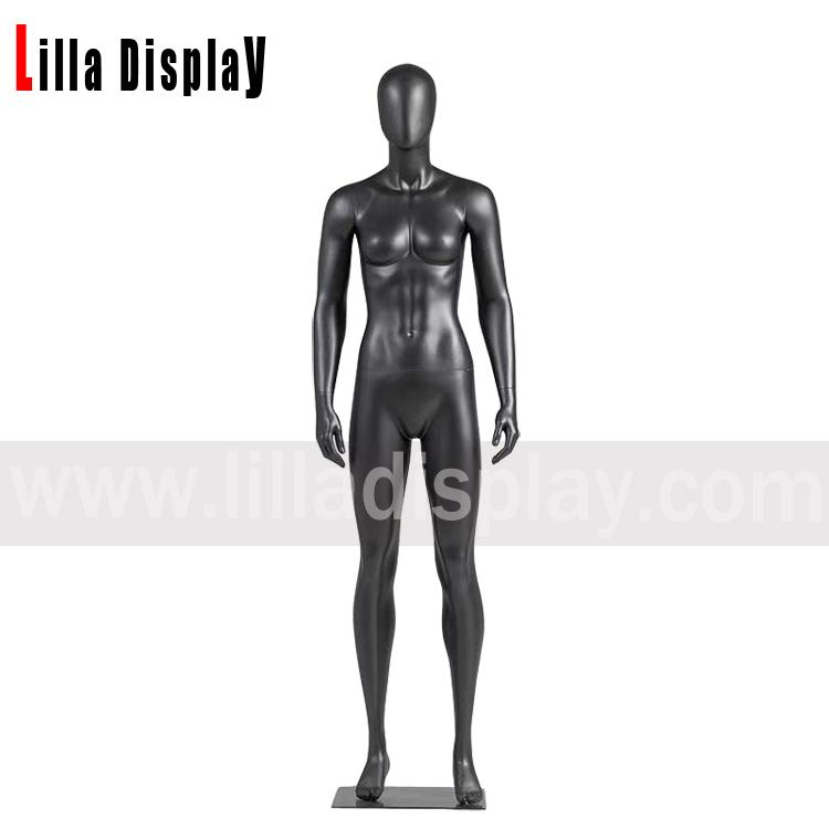 lilladisplay black color standing female sport mannequin JR-2