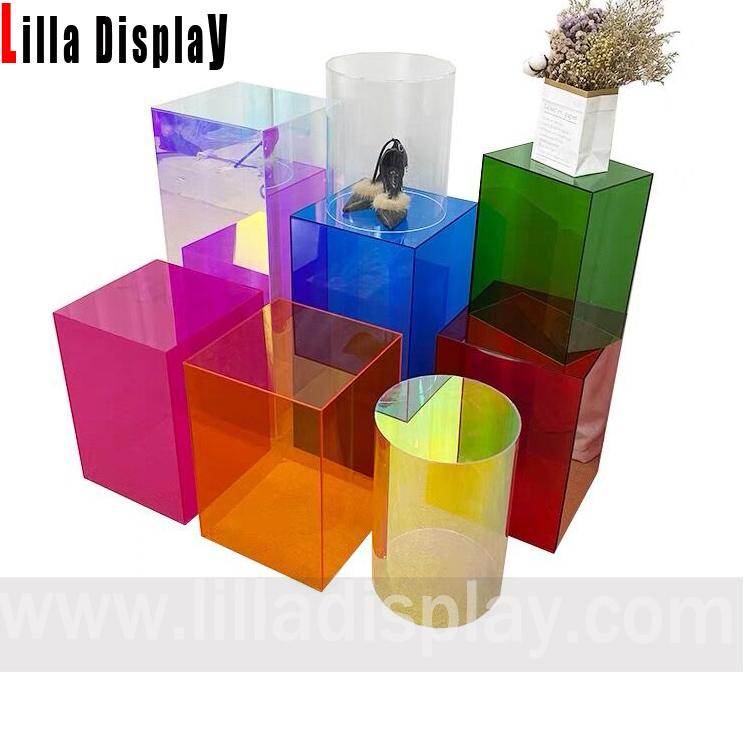 lilladisplay түсті акрил дисплей текшелері сатылымда 20210115