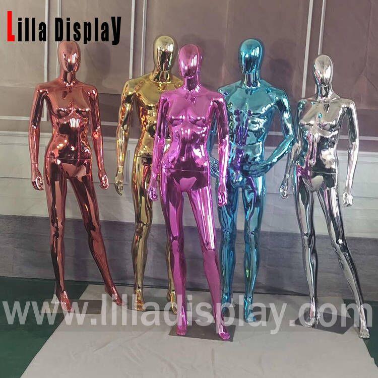 lilladisplay economy colored chrome plastic mannequins on sale